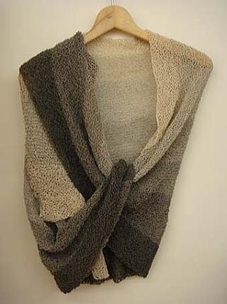 シルク手編みショール